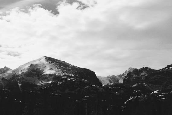Fine Art Photography | Striking Peaks Black and White  Print | Wall Art