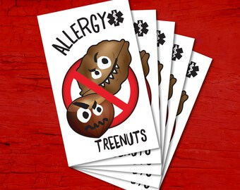 Tattoos for children allergic to TREENUTS.