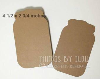 25 XL Kraft Mason Jar Die Cuts, Bride Groom Advice Cards, Large Kraft  Jar, Mason Jar Wedding, Jar Guestbook Alternative