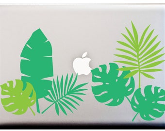 Palm Leaves Tropical Leaves Banana Leaf Decal LAPTOP or Car Decal Island Stickers