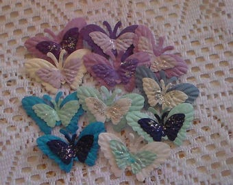 3-D Mixed Layered Colored Butterflies, Blue & White Butterflies, Craft Butterflies, Decor Butterflies