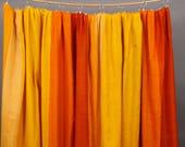 Cortina rayas rojo/ naranja/ amarillo Vintage 70s