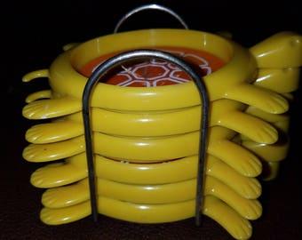 Vintage Plastic Set of Turtle Coasters