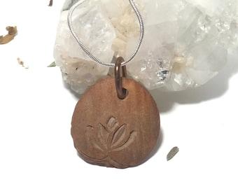 Lotus necklace - Lotus pendant -Lotus pendant necklace - Lotus flowers necklace - lotus flower Pendant - Lotus flower jewelry