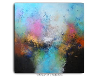 abstract painting / abstract art / wall art / original painting / acrylic painting / painting / large painting / modern art / Free Shipping