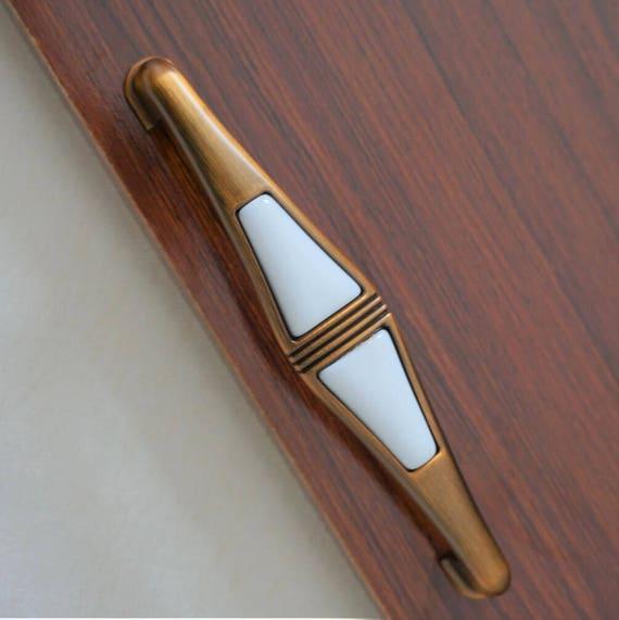 3.75'' 5.00'' Drawer Pulls Dresser Knobs Pull Knobs Pulls Handles White Ceramic French Kitchen