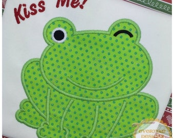 ON SALE Little Frog Machine Embroidery Applique Design