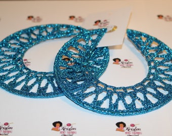 Xl Sparkling turquoise blue