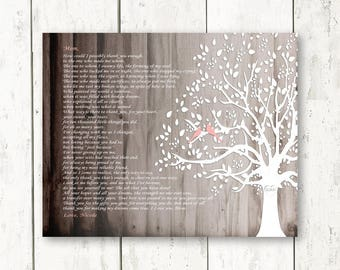 Gift for Mom from Daughter, Mom How can I Thank You, Poem Mom Wedding Day Gift for Mother Christmas Gift Canvas Print Thank You Gift for Mom