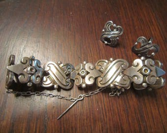 Hector Aguilar Sterling Bracelet and Earrings with Fertility Symbols