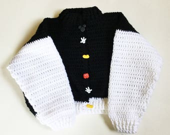 Kids Crochet Sweater, crochet sweater, sweater, winter sweater, black and white sweater