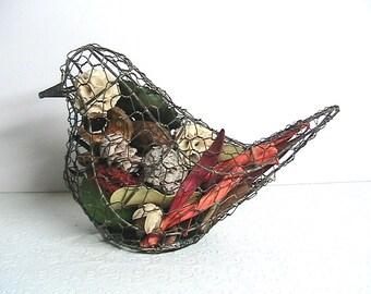 Bird, Chicken Wire Bird Decor, Large Chicken Wire Bird