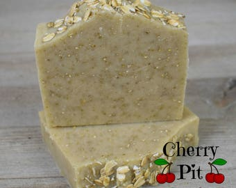 Pure and Natural Oatmeal Shea Butter Soap - Handmade Soap - All Natural Shea Butter Soap
