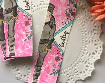 Westley Spine Bookmark - Dread Pirate Roberts - Handmade Hand-Painted Watercolor