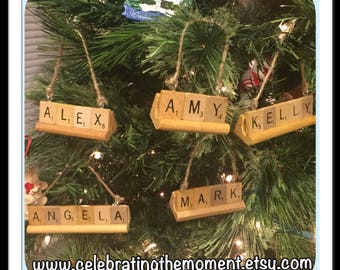 Employee Gifts, Set of 10, Personalized Christmas Ornament, CHOOSE ANY Name (up to 9 letters), grandkids ornament, Team Name Ornaments