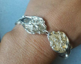 Autumn Acorn Recycled Silver Plated Spoon Bracelet