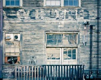 Old building in North Portland, Oregon 4x6,5x7, 8x10, 11x14