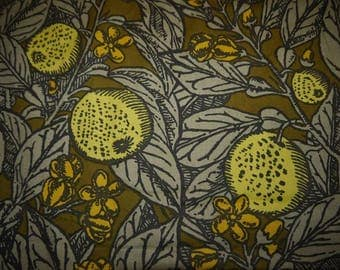 Vintage Fabric - Swedish Design - Annika Malmström - Mölnlycke - Sweden - RARE - Retro Fabric - Mid Century