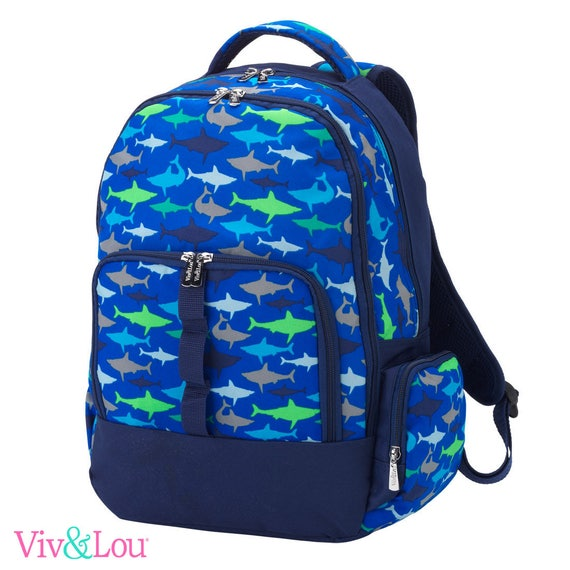 jawsome shark backpack camouflage  backpack  bookbag embroidered  back to school girls boys backpack monogrammed backpack