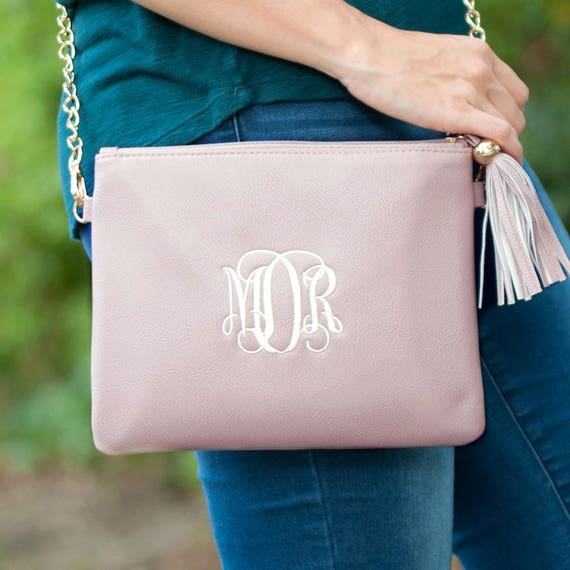 blush kendall purse crossbody bag monogram purse personalized purse monogram handbag monogram crossbody black purse
