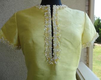 Casa Cavanagh Beaded Yellow Dress