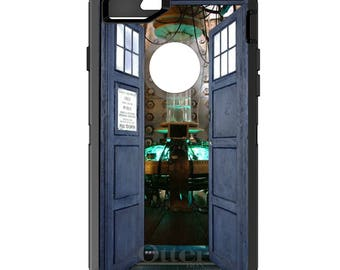 TARDIS Photo OtterBox Defender / Apple iPhone OR Samsung Galaxy / Doctor Who Whovian / Custom Personalized Monogrammed / Any Color