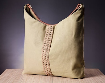The Khaki  Hobo Bag