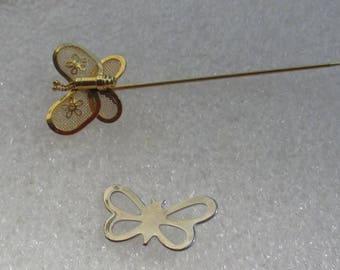 Retro Mesh Butterfly Stick Pin Plus Butterfly Lapel Pin