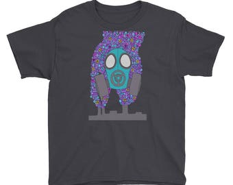 Teal theme Gask Mask design Youth Short Sleeve T-Shirt