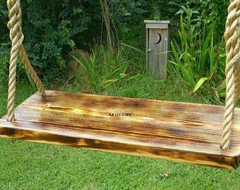 Wood Tree Swing- Charred Appalachian 4 Hole