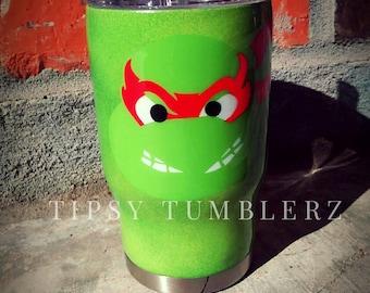 ninja turtles/ninja/teenage mutant ninja turtle/custom tumbler/stainless steel tumbler/tumbler with straw/kids christmas stocking/tmnt