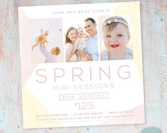 ON SALE Spring Marketing Board Mini Session - Photoshop template - IE016 - Instant Download