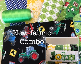 NEW! Farmer Tractor personalized pillow case, 12x18 inch