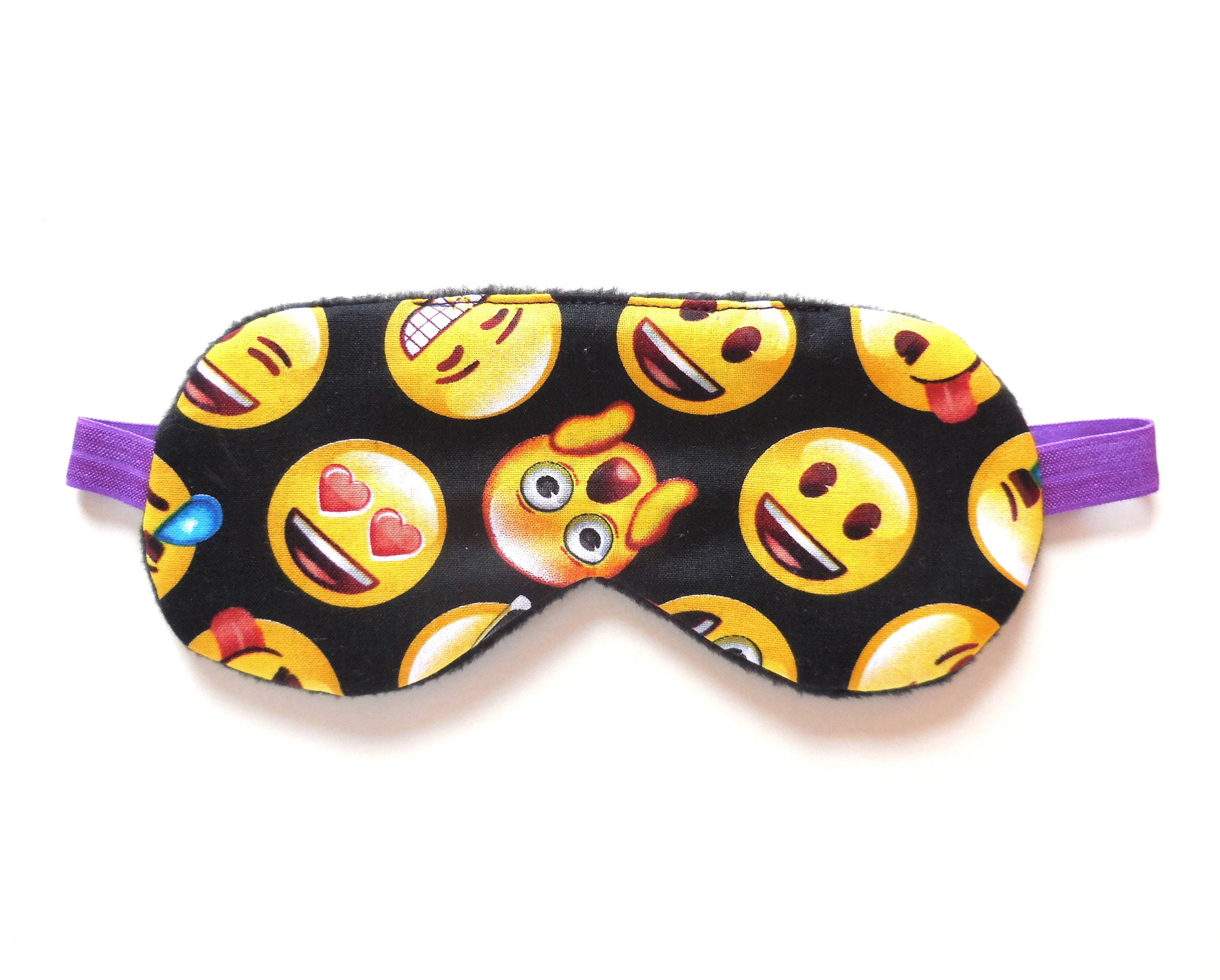 Emoji Sleep Mask Girl Eyemask Teen Blindfold Child Kid