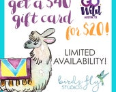 GO Wild Exclusive Gift Card Promo / 40.00 Gift Card Code for 20.00 / 15 available / LIMITED EDITION