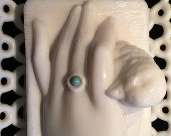 Westmoreland milk glass container,bird in hand,circa 1900