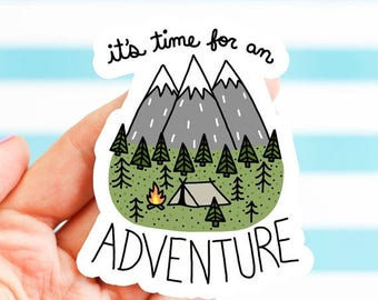 Moving SALE Adventure Sticker, Dad, Father's Day Gift, Bike Stickers, Nature, Bumper Stickers, Camping Sticker, Explore, Travel Sticker