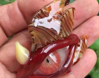 Fire Dragon Eye in Borosilicate Glass Pendant!
