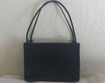 25% off SALE Black pony hair & leather hand bag purse