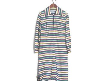 70s striped dress // zip up vintage dress // 70s shirt dress // retro day dress // boho vintage dress // vintage workwear // stipey dress