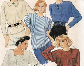 Vintage 1988 PULLOVER BLOUSES McCall's Fashion Basics Pattern 3901 Misses Sizes 16 18 20