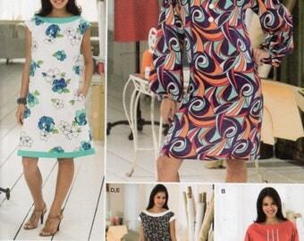 Simplicity Sew Stylish Pattern 2968 MINI DRESS Pullover DRESS Tunic Tote Bag Misses Sizes 6 8 10 12 14