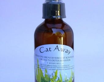"""Cat Away"" Spray: Deter your cat from scratching the furniture!"