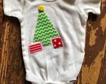 0-3 month short sleeve Christmas Onesie