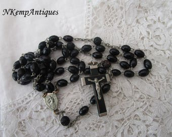 Antique wooden rosary 1910