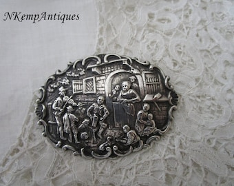 Antique silver brooch real silver