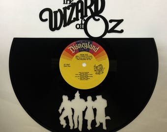 Recycled Vinyl Record Wizard of OZ Wall Art
