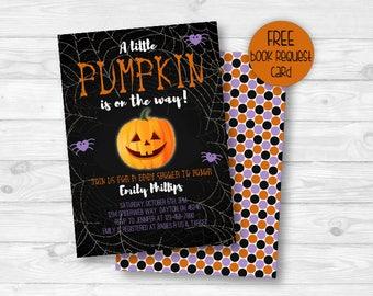 Halloween Baby Shower Invitation, Pumpkin Baby Shower Invitation, Gender Neutral, Fall Baby Shower Invite, Printable Invitation