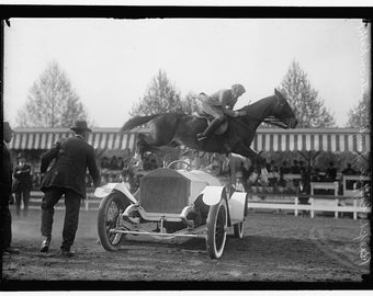 Ralph Coffin, Jumping over a Rolls Royce Automobile, 1916, Washington D.C. #2