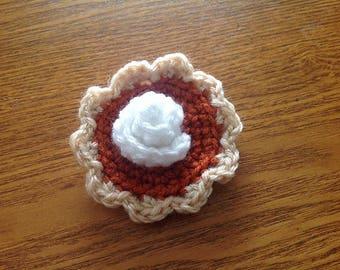Mini Pumpkin Pie - Soft Crochet Play Food for Fun